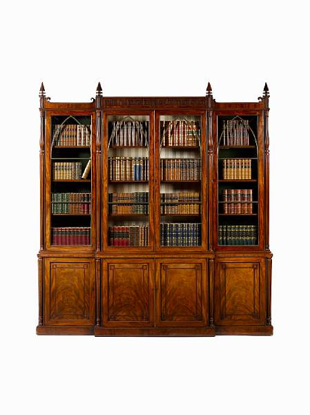 08a-regency-carved-mahogany-breakfront-library